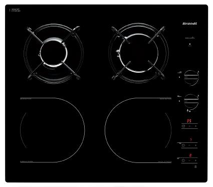 Bếp từ kết hợp gas Brandt TI1013B