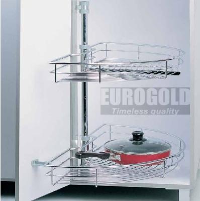 thiết bị đồ nội thất,giá xoay- Mâm xoay 1/2 inox TR180C - phụ kiện tủ bếp EUROGOLD