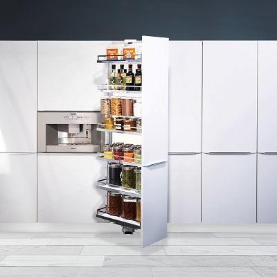 Tủ kho rút xoay 6 tầng cao cấp cánh 400 - Phụ kiện tủ bếp Eurogold
