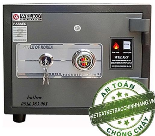 két sắt chống cháy welko KCC60 khóa cơ tinh vi