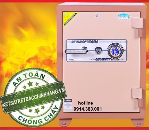 Két sắt Genkin korea KS140 đổi mã màu đồng cói khả năng chống cháy cao