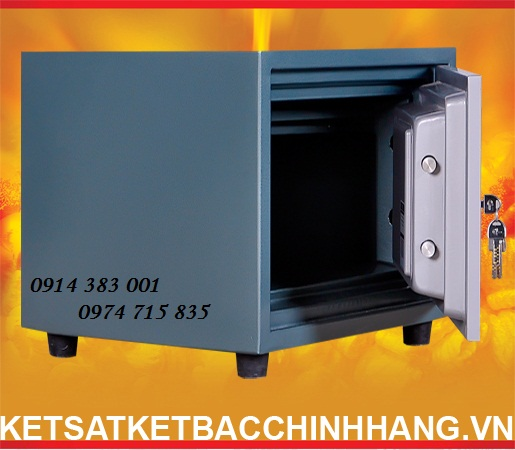 Két Sắt Cánh Đúc KS80 - 2k xanh được đúc bởi tấm thép dày liền khối chống cháy