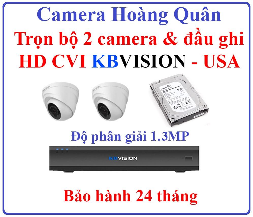 lắp đặt trọn bộ camera KBVision thương hiệu Mỹ