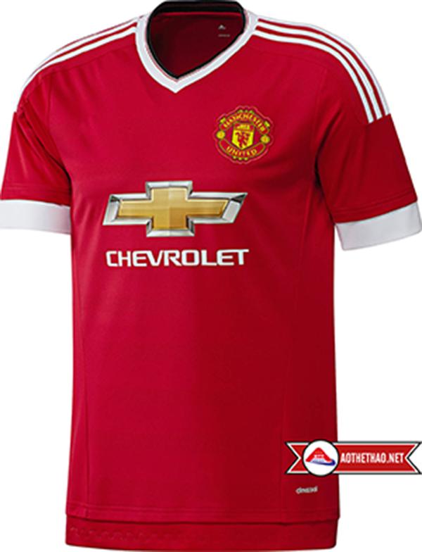 Áo Bóng Đá CLB Manchester United sân nhà 2015 - 2016