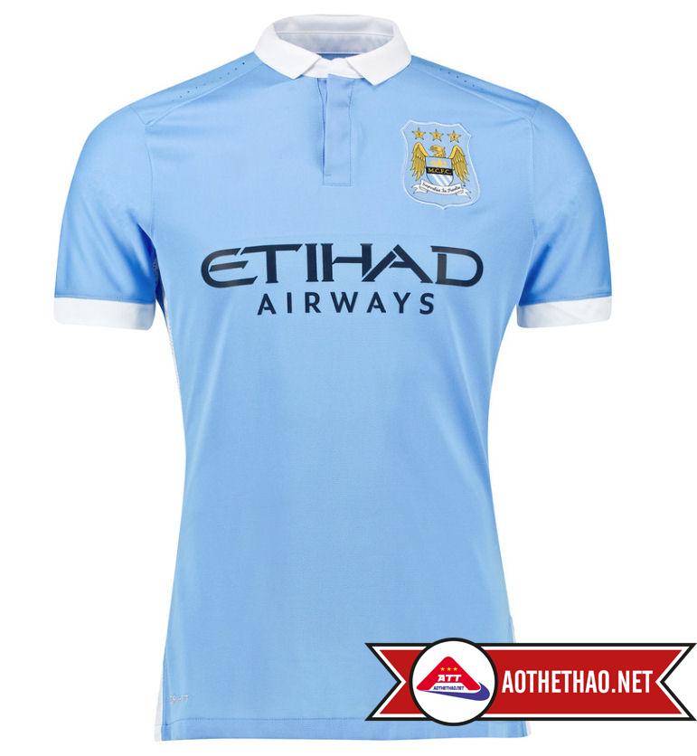 Áo Bóng Đá CLB Manchester City Super Fake 2015 - 2016
