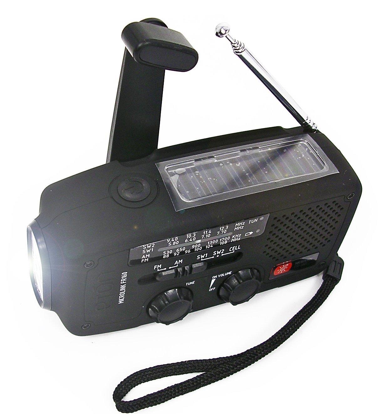 Đài radio Eton Microlink FR-160 AM/FM Flashlight, Solar