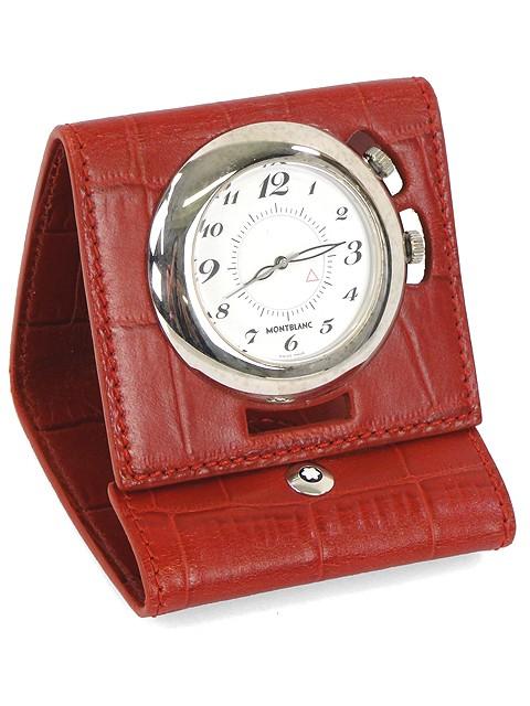 Đồng hồ bỏ túi MontBlanc 7056 Mini Leather Alligator Travel Clock