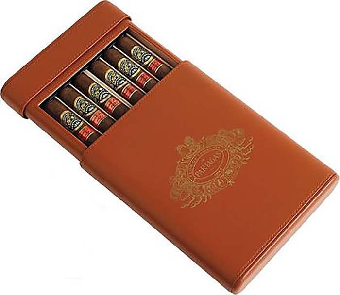 Hộp đựng cigar Partagas Leather Decadas Special Travel Humidor, 6 pack