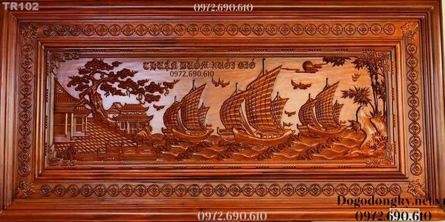 Tranh thuan buom xuoi gio, TRANH THUẬN BUỒM XUÔI GIÓ - Tranh Khắc Gỗ Mỹ Ghệ Phú Hải