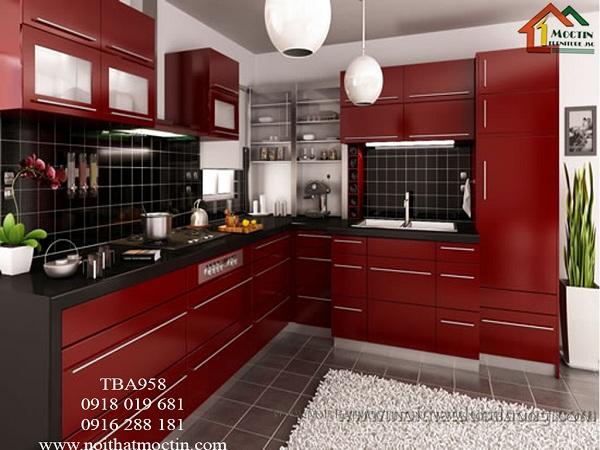 tủ bếp acrylic TBA959