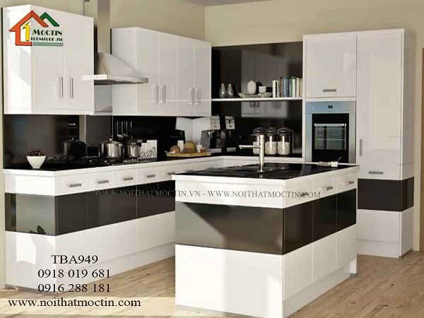 tủ bếp acrylic giá rẻ TBA949