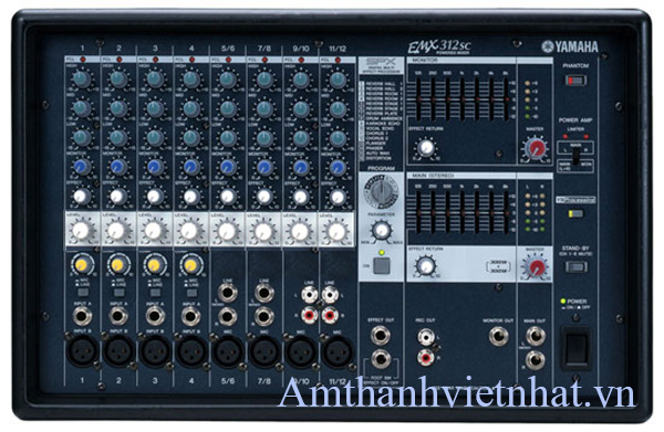 Bàn mixer kèm công suất Yamaha EMX312SC