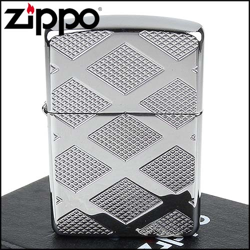 Zippo Armor Carved Chrome Diamond