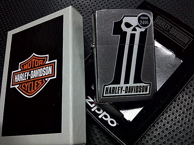 Zippo Harley Davidson No 1 Brushed Chrome