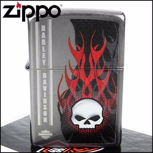 Zippo Harley Davidson Skull Grey Dusk