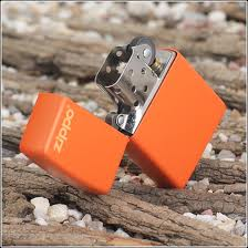 Zippo Orange Matte with Zippo Logo