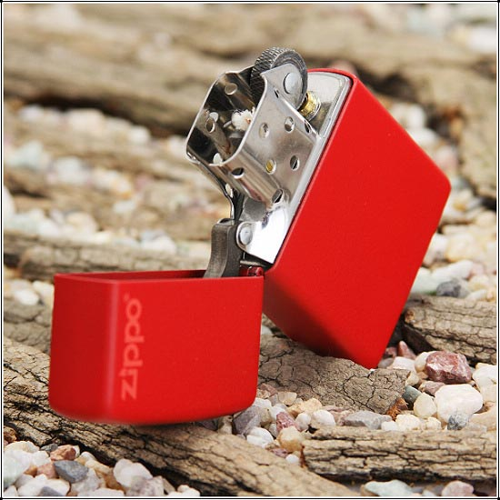 Zippo Red Matte with Logo