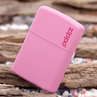 Zippo Pink Matte with Logo