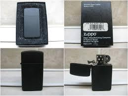 Zippo Black Matte Slim - Bật Lửa Slim Sơn Tĩnh Điện Đen