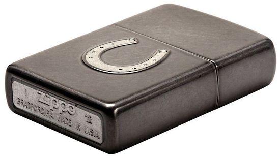 Zippo Horseshoe Design Grey Dusk