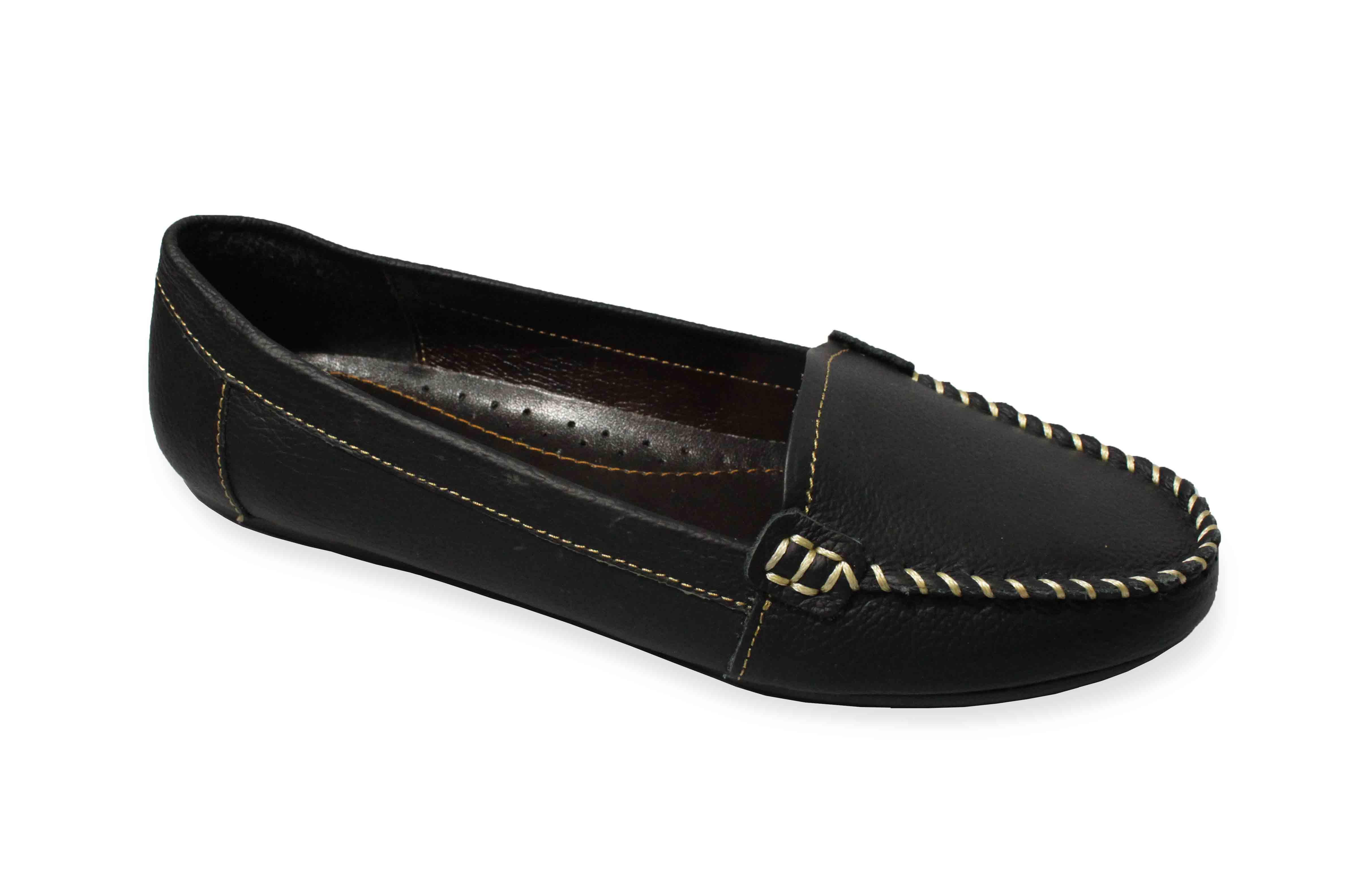 giày moka gót chun
