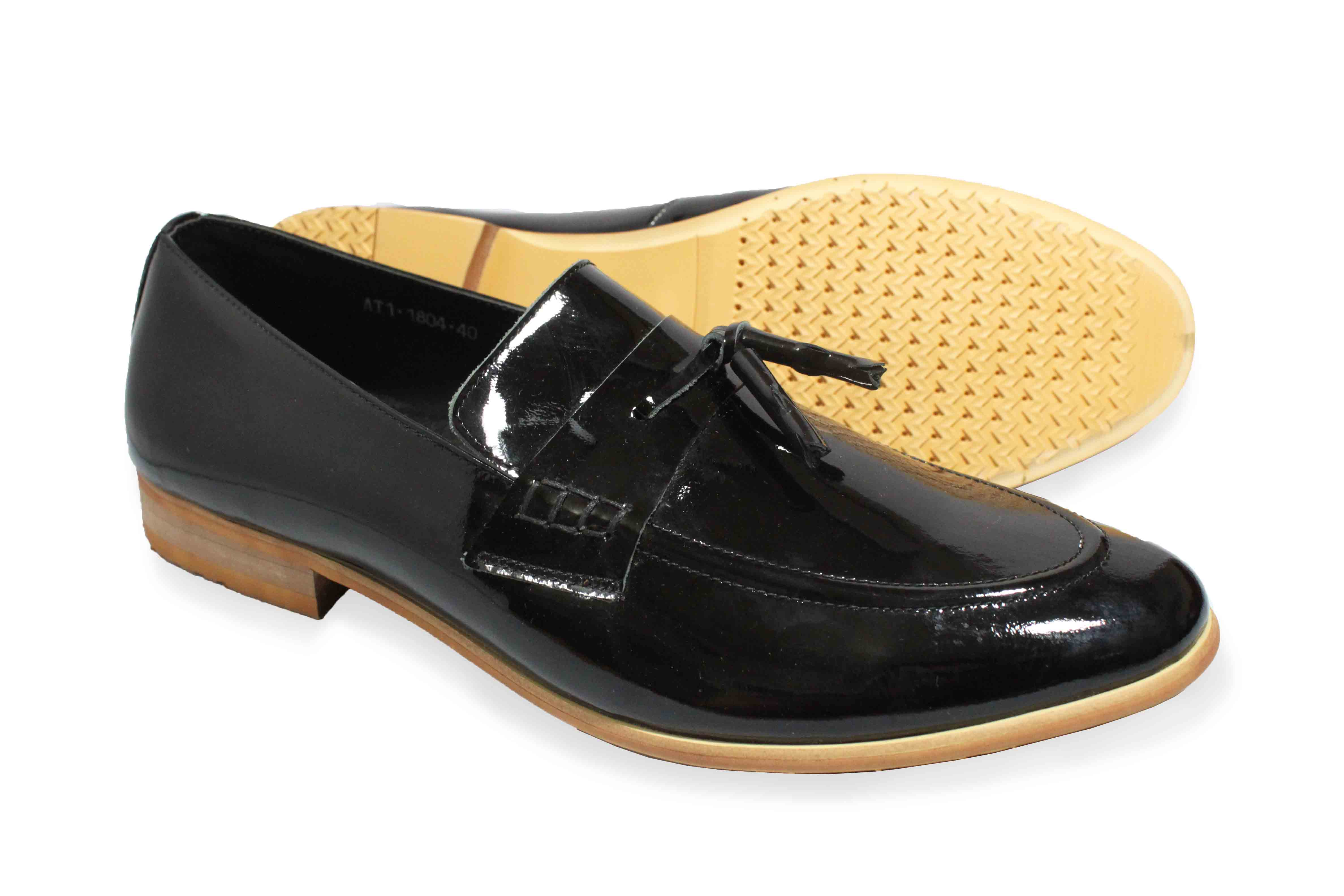 giày da bóng nơ chuông