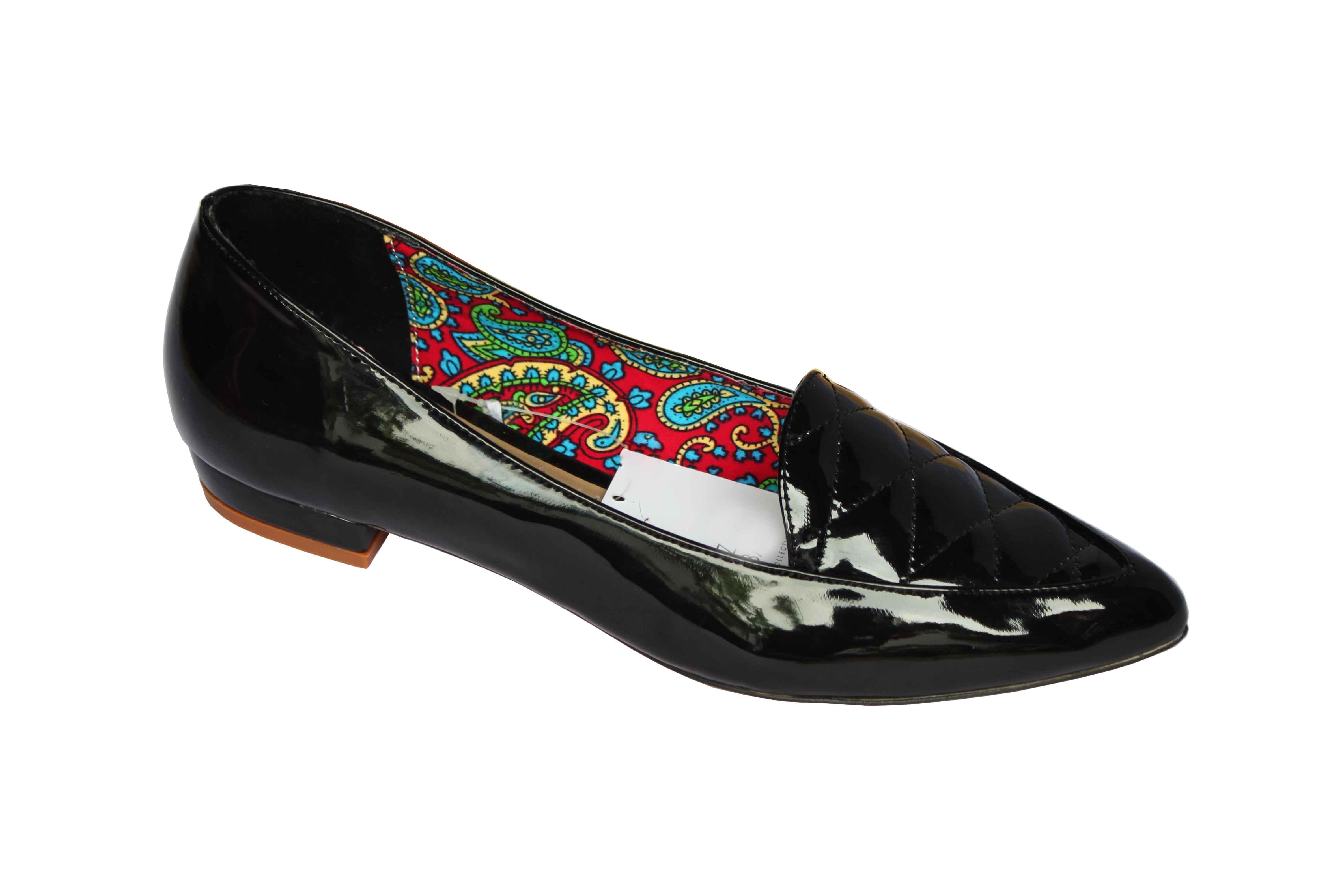 giày đế bệt nữ da bóng