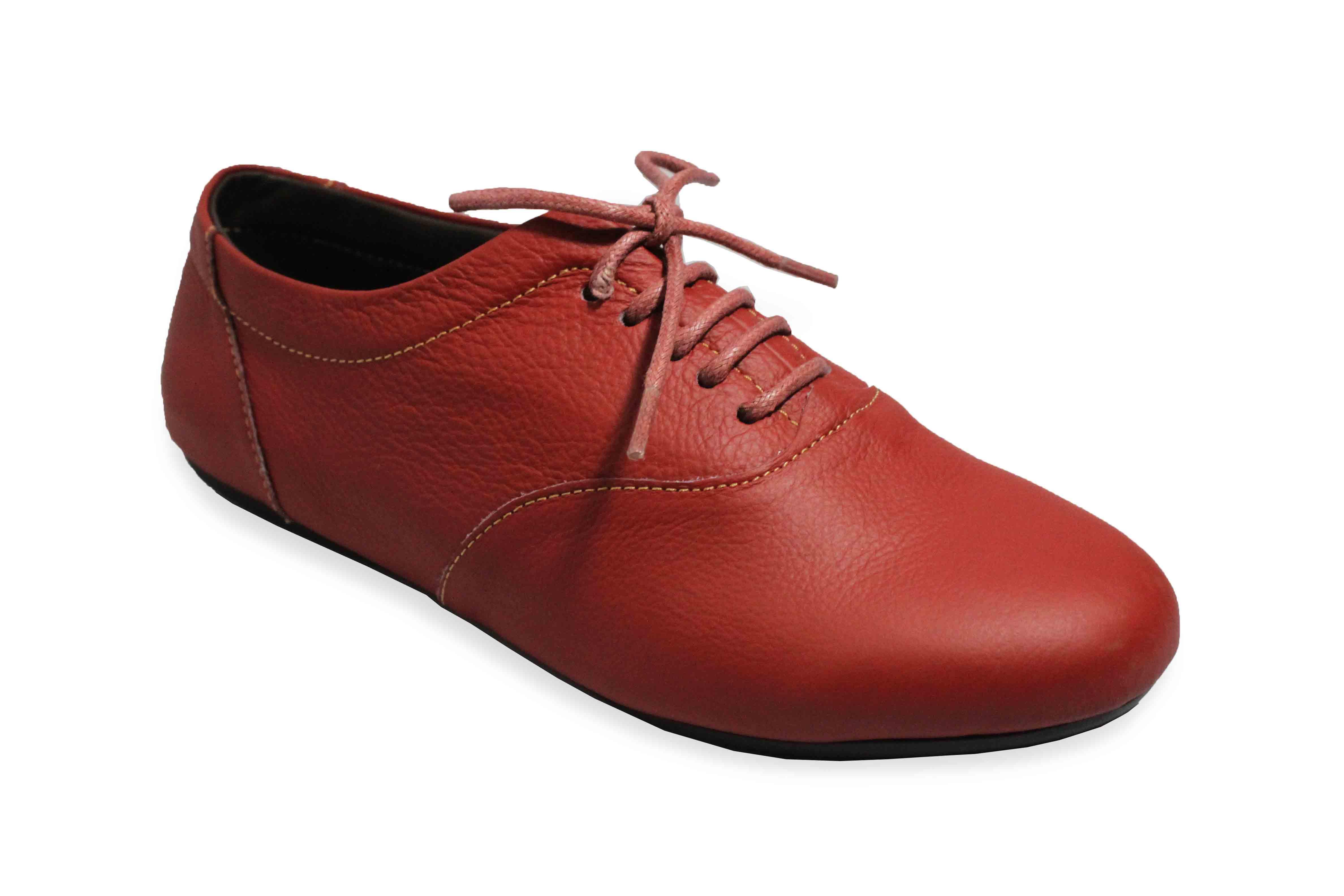 giày oxford da đỏ