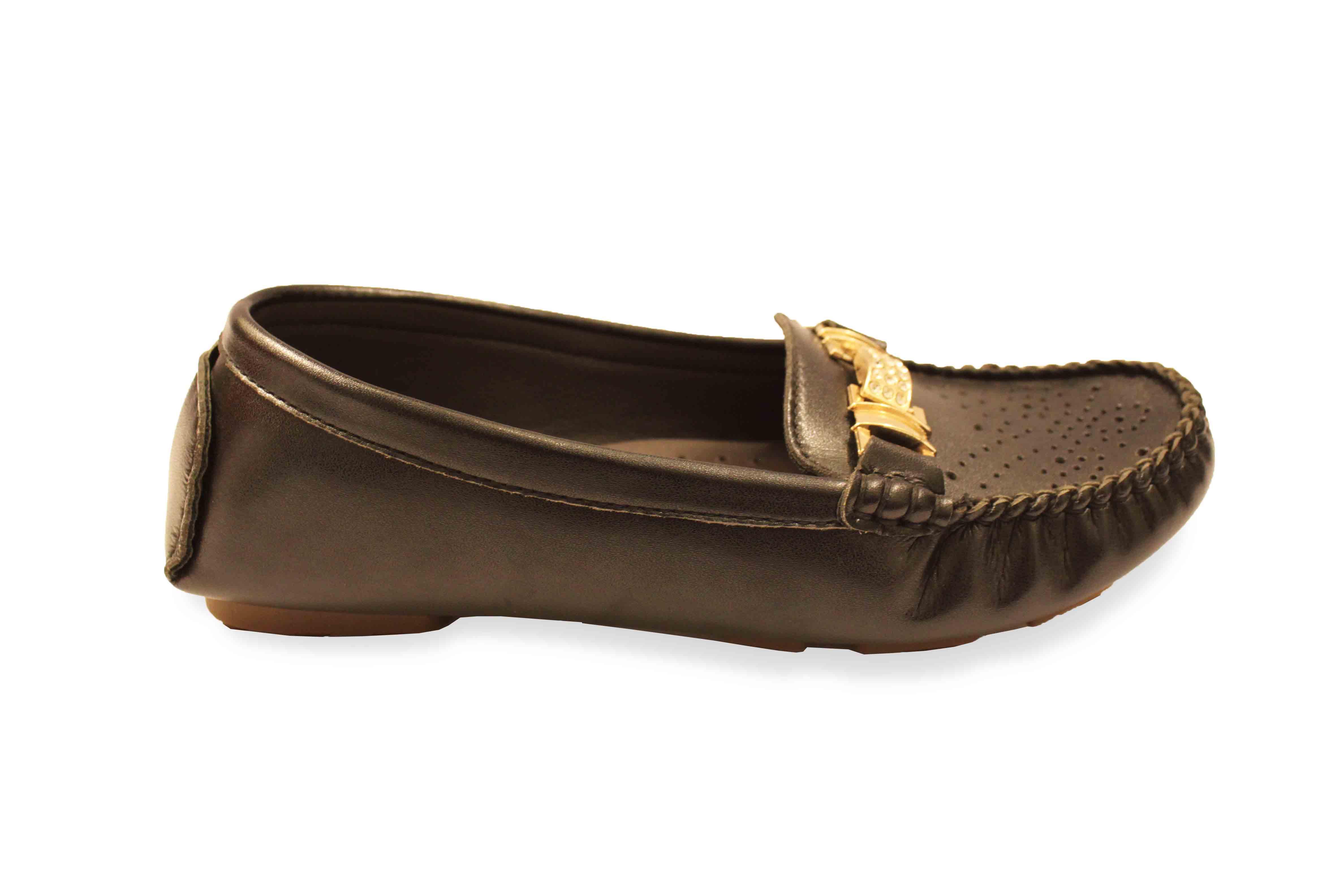 giày mọi nữ da thật