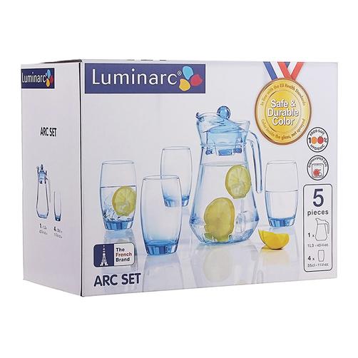 Bộ Bình Ly Thủy Tinh Luminarc 5 Món Arc Ice Blue L0535