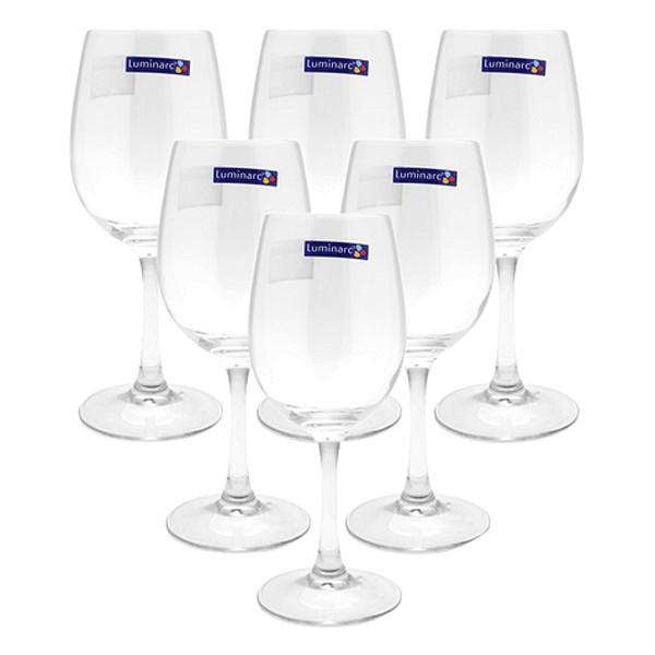 Bộ 6 Ly rượu vang thủy tinh Luminarc Raindrop 250ml H5701