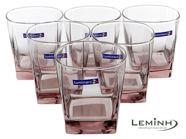Bộ 6 Ly Thấp Thủy Tinh Luminarc Octime Pink J4507 - (300ml)