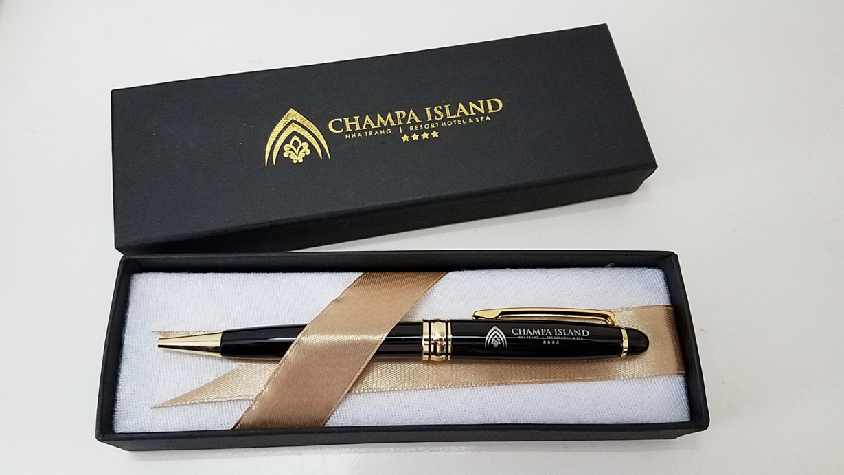 but ky kim loai cao cap khac logo cu lao cham champa island