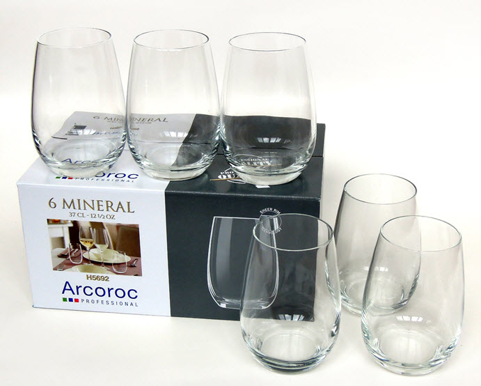 Bộ 6 cốc thủy tinh cao cấp Luminarc Acroroc 37cl