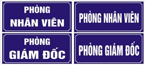 Làm biển phòng ban mica đẹp giá rẻ tại Hà Nội