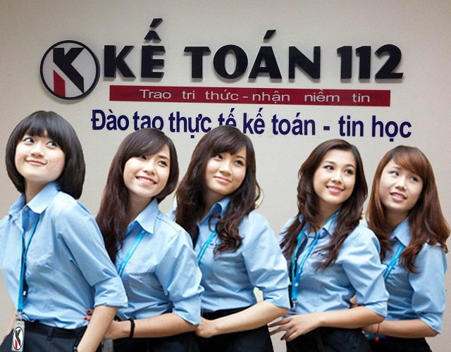 Đội ngũ giáo viên nữ của kế toán 112