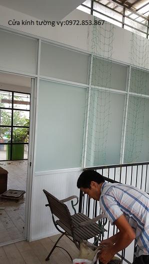 tháo vách kính văn phòng,cửa kính,vách nhôm kính quận 11
