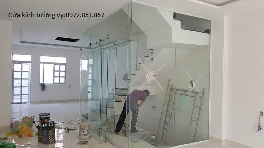 tháo vách kính văn phòng,cửa kính,vách nhôm kính quận phú nhuận
