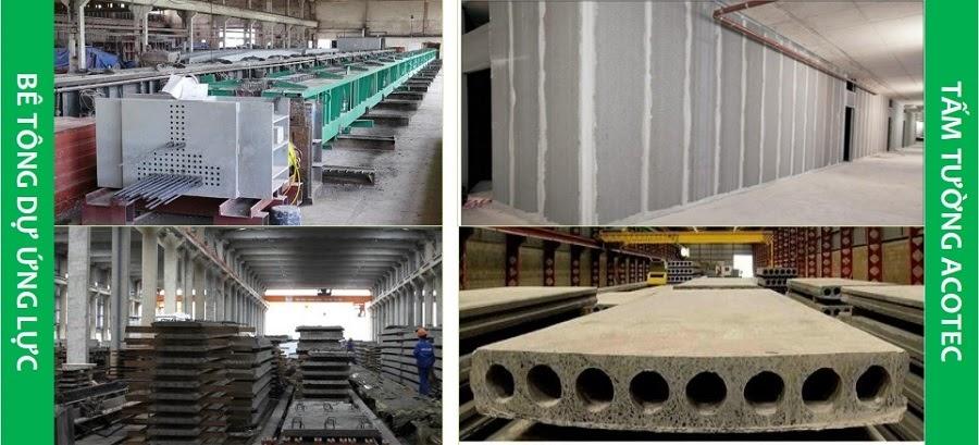 Tấm tường Acotec được sản xuất với yên cầu kỹ thuật cao trong nhà máy