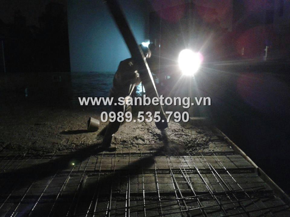 Sàn bê tông nhẹ với kết cấu gạch bê tông nhẹ và dầm dự ứng lực