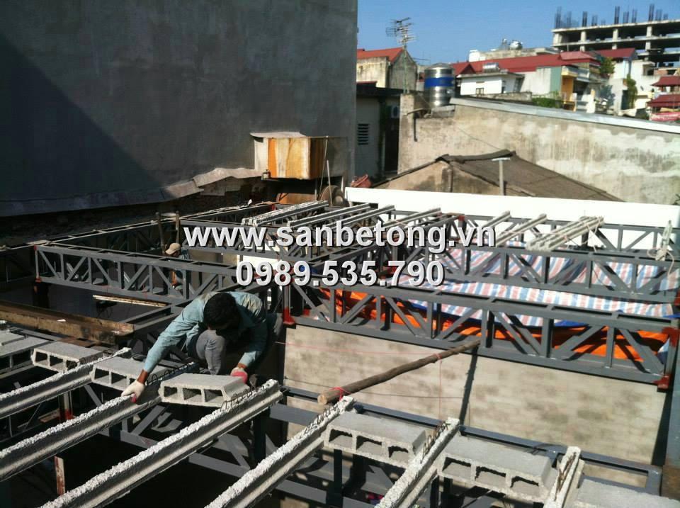 Sàn bê tông nhẹ được dùng công trình dân dụng