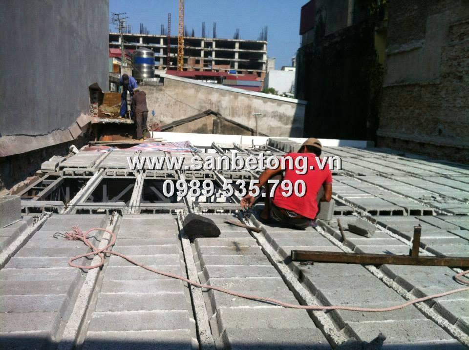 Sàn bê tông nhẹ áp dụng cho các công trình xây dựng công nghiệp