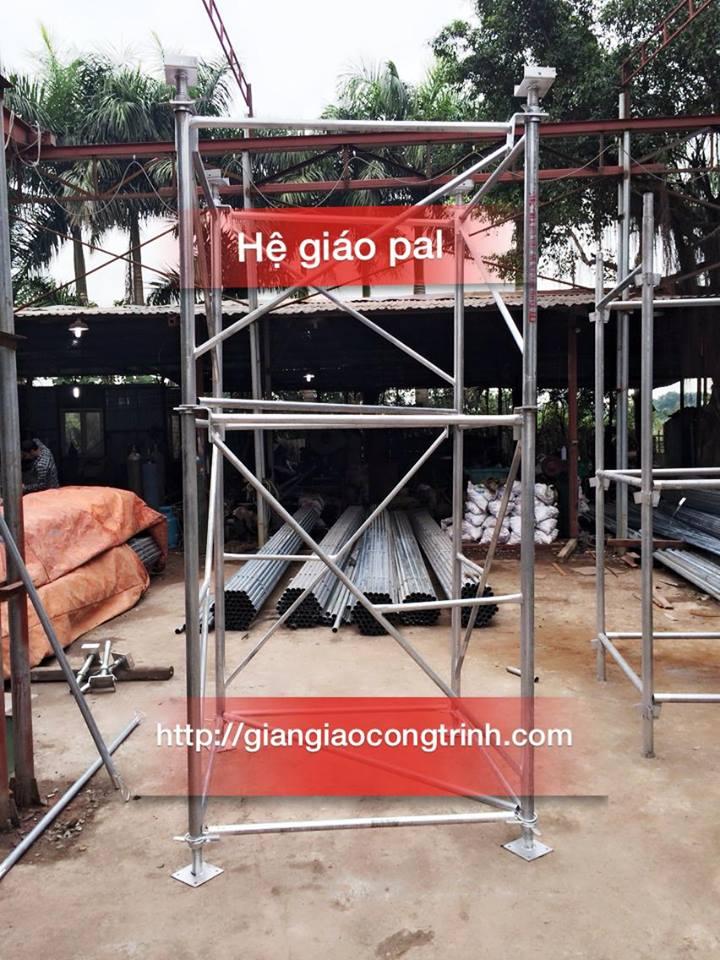 Sản phẩm thực tế hệ giáo Pal mạ kẽm Tân Trường Thành sản xuất