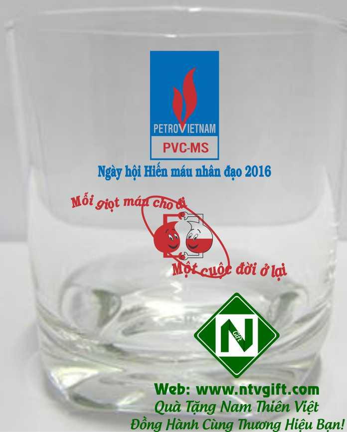 cốc thủy tinh cao cấp in logo UG 359 PVC