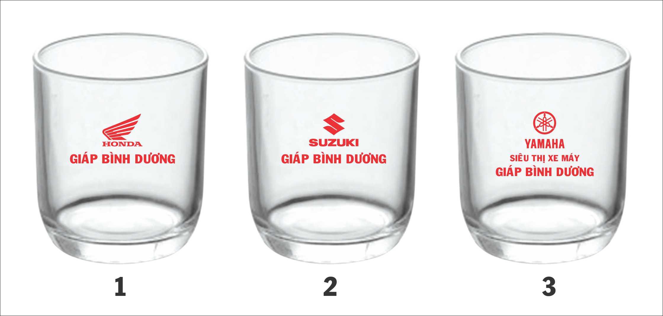 In logo lên ly thủy tinh giá rẻ