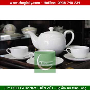 Bộ ấm trà minh long 0.7l Came trắng