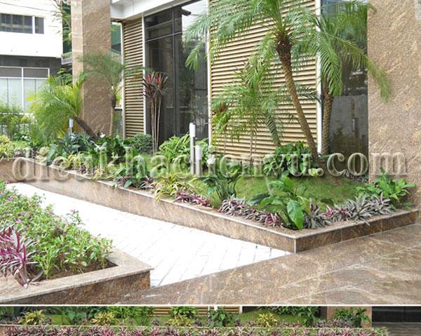 Tiểu cảnh sân vườn cho nhà chung cư