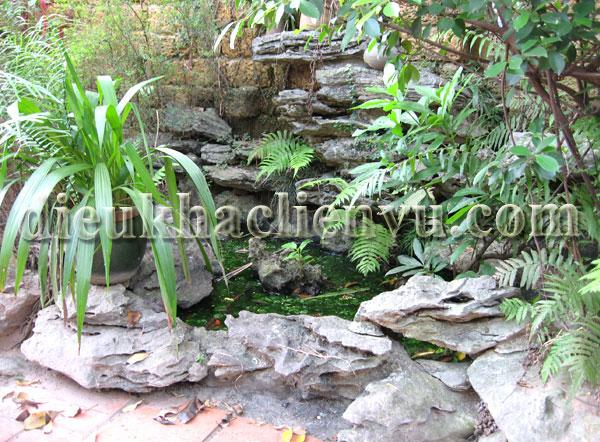 Hình ảnh vườn non bộ tam sơn đẹp