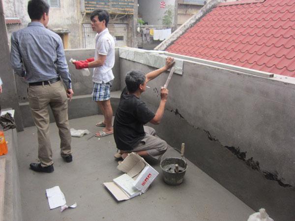 Tiểu cảnh sân thượng tại Kim Mã