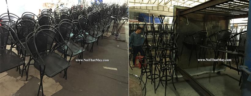 Quy trình sơn tĩnh điện bàn ghế nhựa giả mây